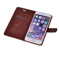 Business style insert card holder function leather case for iphone 6 6s plus