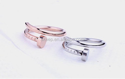 stainless steel nail finger ring titanium steel lovers KNUCKLE RING fashion jewelry jz196