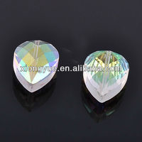 AB Color Water Drop Facets Crystal Glass Beads