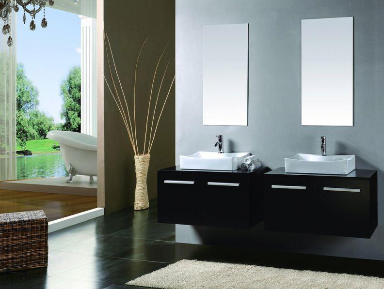 solid wood bathroom cabinet vanity tall hanging bathroom furniture