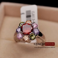 Flower Shape Vintage Zircon Nickle Free Women Ring finger