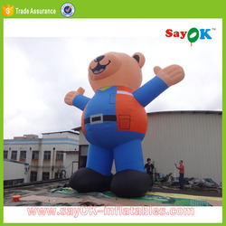outdoor inflatable giant bear 10m high durable inflatable bear