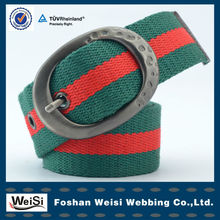 New Style Striped Cotton Canvas Web Belt With High Quality