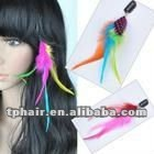 Factory Direct Sales Real Rooster Feather Hair Extension