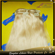 wholesale hot sale silky straight color #22 100% malaysian human hair natural hair clips