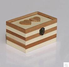 Mutual affinity wooden jewelry box handmade