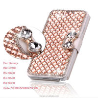 Luxury Bling Crystal & Diamond Leather Flip Lady Bag Cover For Samsung Galaxy S6 S5 S4 S3 Note 4/3/2 Phone Case Cover Housing