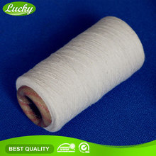 Cnlucky factory Ne 8s recycled bleached yarn fabric factory fabric yarn for weaving