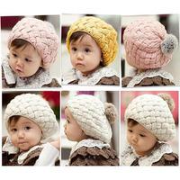Wholesale New Autumn Winter Baby Hat Bonnet Style Kid Crochet Cap Lovely Infant's Headwear