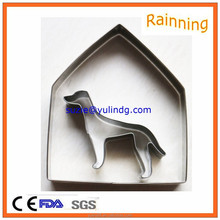 Best selling stainless steel house dog cookie cutter DIY stamp