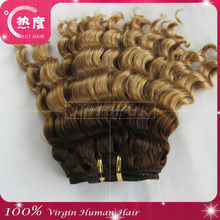 Most popular can be dyed colored high quality most popular virgin double drawn hair weave deep wave