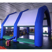 car tent inflatable , LZ-E1570 giant green inflatable tent house for events