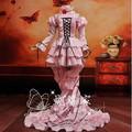 Alta calidad Chobits Eruda rosa Cosplay Sexy traje de moda vestido de Cosplay del Anime Lolita vestido uniformes traje de Halloween