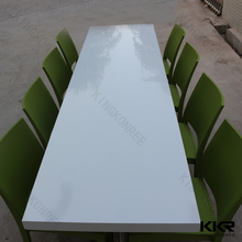acrylic solid surface brand new home nice dining table for 8 person