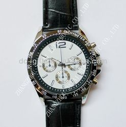2015 hot sporty men Watch water resistant 3ATM japan movement GENUINE LEATHER STRAP or silicon strap