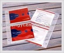 CD vinyl sleeve page: plastic cd sleeve for 2 discs