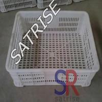 Customized sizes mushroom plastic basket in China