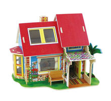 3D wooden doll house, wooden furniture