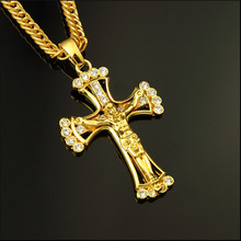 Yiwu Aceon stainless steel jesus on cross Christian daily wear pendant fashion jewelry