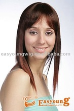 Wholesale two tone ombre long hair styling synthetic wigs for women