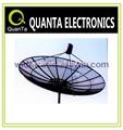 C banda 3.0m malha antena parabólica, 3m prato malha de alumínio de antena