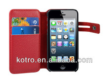 ODM Factory high quality leather cases for iphone5 iphone 5s iphone 5c