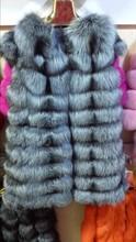 china wholesale high quality sliver fox fur vest / fox fur vest fur garment /ladies fur coat