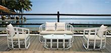 Outdoor Sofa Hot Sale White Aluminium Frame Garden Furniture
