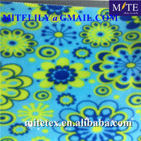 fashion flower printed polar fleece for picnic blanket