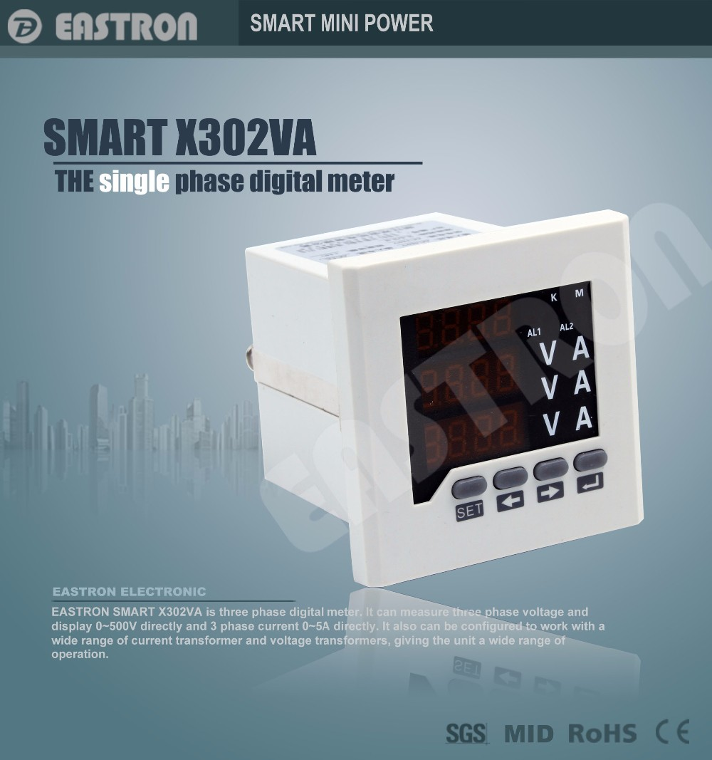 Smart X302va Three Phase Digital Voltage And Ampere Panel Meter,Amp ...