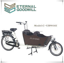 2015 hot sale electric bisiklet inter 3 speeds bicycles trikes 26inch cargobike electric cargo bike/electric tricycle UB9016E
