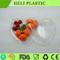 heart shape clear plastic fruit/salad tray
