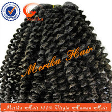 Top venta de pelo natural india, 100% virgen 5a rizado rizado venta al por mayor de pelo indio virgen
