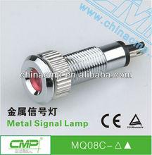 Installation size 8mm chromium plated brass waterproof indicator light( IP67)