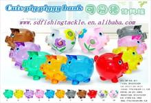 Alibaba wholesale lovely pig designs plastic money put into money