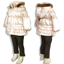 Shiny Pink Far Down clothing factories in china baby girl boy infant 2012 fashion women business suits dresses evening
