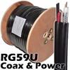Quad shield coax cable RG59 type