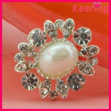 bridal wedding rhinestone pearl button WBK-1357