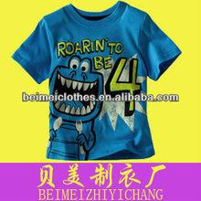 Niños niño de color divertidos camisetas 100% del bebé del algodón camisas de polo ropa del cabrito