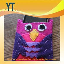 Cute Woodpecker Felt Bag/cell Phone Case/ Felt Phone Pouch