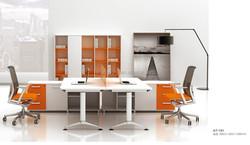 Steel leg wooden top, office steel leg desk