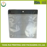 2015 New Products Custom Printing Clear Plastic Zippered Storage Bag