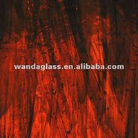 Dark Amber Transparent stained glass (thickness 3mm)