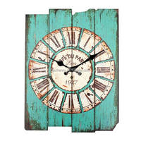 Modern Design Retro Vintage Rustic Wall Clock Shabby Chic Home Office Coffeeshop Bar Decoration Best Gift Craft Classical