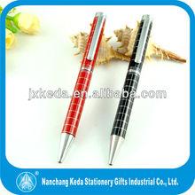silver plated metal huashilai copper twist ball pen