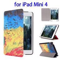 2015 New Hot 3 Folding Flip Leather for iPad Mini 4 Case Cover