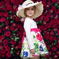 2015 new design fancy smocking dress baby girl frock design for kids