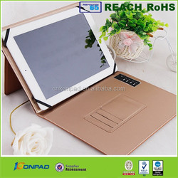 Best Quality Stylish PU Case with power bank for ipad air 2 leather case