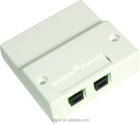 High quality 86*86 double ports 2 fibers fiber optic socket/fiber optic 2 fibers terminal box/2 fibers wall mount outlet