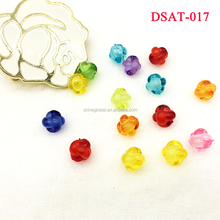 12MM Lantern Chunky Acrylic Beads, Mixed Color Transparent Beads in Beads